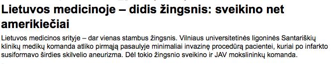 Lietuvos gydytojų pasiekimai