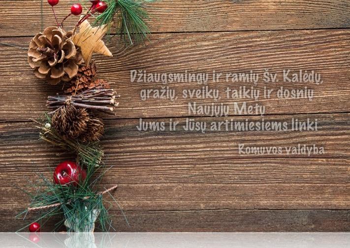 Linksmų šv. Kalėdų ir laimingų 2019-ųjų!