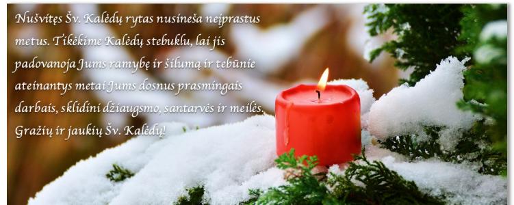Ramių Šv. Kalėdų ir laimingų Naujųjų metų!